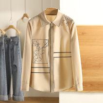 Lace / Chiffon Spring 2021 White, Khaki S,M,L,XL Long sleeves singleton  easy Regular Other / other