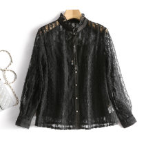 Lace / Chiffon Spring 2021 Black, beige, black (no interior) S,M,L,XL,XXL Long sleeves Two piece set easy Regular Other / other