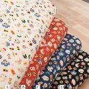 Fabric / fabric / handmade DIY fabric cotton A white, B red, C dark blue, D black Loose shear character clothing Japan and South Korea 100% Japan