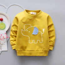 T-shirt Other / other neutral spring and autumn Long sleeves Crew neck leisure time No model nothing cotton Cartoon animation Cotton 95% other 5% 0-4 years old Sweat absorption Six months, 12 months, 2 years, 3 years, 4 years Chinese Mainland Zhejiang Province