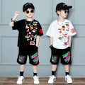 Children's performance clothes Black a1629 motor vehicle, white a1629 motor vehicle male Walking tour Class B Street dance Cotton 95% PVC 5% Pure cotton (100% content) Three, four, five, six, seven, eight, nine, ten, eleven, twelve, thirteen Korean version