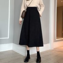 skirt Winter 2020 S size (less than 100 kg recommended), M size (100-112 kg recommended), L size (112-126 kg recommended) Classic black, retro Brown Mid length dress Versatile High waist A-line skirt Solid color Type A 25-29 years old 81% (inclusive) - 90% (inclusive) corduroy Other / other