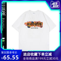 T-shirt Youth fashion Black, white, green routine XL,L,M VIVGAE Short sleeve Crew neck easy Other leisure summer EB101 teenagers routine American leisure other 2020 other printing Cotton ammonia