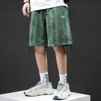 Casual pants Others Youth fashion green M,L,XL,2XL,3XL,4XL,5XL routine Pant Other leisure easy No bullet summer teenagers tide 2021 middle-waisted Straight cylinder Overalls printing No iron treatment Animal pattern