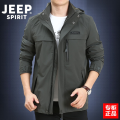 Jacket Jeep / Jeep Fashion City M,L,XL,2XL,3XL routine easy Other leisure autumn 20MA783TT2752/1509 Polyamide fiber (nylon) 90% polyurethane elastic fiber (spandex) 10% Long sleeves Wear out Detachable cap Military brigade of tooling youth routine Zipper placket Straight hem washing Solid color nylon
