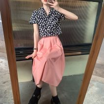 Fashion suit Summer 2021 Average size Floral shirt, pink skirt 18-25 years old 163H 71% (inclusive) - 80% (inclusive) polyester fiber