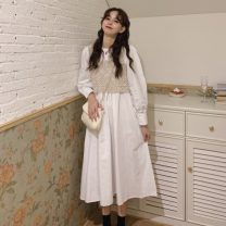 Fashion suit Autumn 2020 Average size White with skirt, black with skirt, apricot hook flower vest 18-25 years old 8339X 51% (inclusive) - 70% (inclusive) polyester fiber