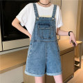 Jeans Summer 2021 blue S,M,L Pant High waist rompers routine 18-24 years old washing Cotton denim Dark color 516M 51% (inclusive) - 70% (inclusive)