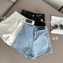 Jeans Summer 2021 White, blue, black S,M,L shorts High waist Wide legged trousers routine 18-24 years old Cotton denim 8066H 71% (inclusive) - 80% (inclusive)