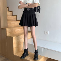 skirt Summer 2021 S,M,L Picture color Short skirt commute High waist A-line skirt Solid color Type A 18-24 years old 51% (inclusive) - 70% (inclusive) polyester fiber Korean version