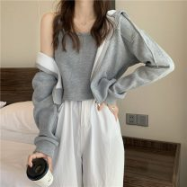 Sweater / sweater Winter 2021 Apricot coat, grey coat, black coat, apricot sling, grey sling, black sling Average size Long sleeves have cash less than that is registered in the accounts Cardigan singleton  thickening easy commute 18-24 years old 51% (inclusive) - 70% (inclusive) Korean version 7734F