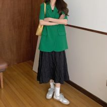 Fashion suit Summer 2021 Average size Green, black 18-25 years old 8075F 81% (inclusive) - 90% (inclusive) cotton