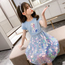 Dress Blue, purple, pink female Other / other 140cm,130cm,160cm,150cm,120cm,110cm Cotton 90% other 10% summer princess Short sleeve Cartoon animation cotton Splicing style WZ ice snow Sequin skirt Class A Three, four, five, six, seven, eight, nine, ten, eleven, twelve, thirteen Chinese Mainland