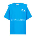 T-shirt Cyan blue S,M,L,XL Summer 2021 Short sleeve Crew neck Straight cylinder routine cotton 96% and above 18-24 years old YT&UR YV13S4ME2000