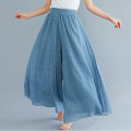 Casual pants 85CM,95CM Summer 2020 trousers Wide leg pants High waist commute Thin money 96% and above Other / other cotton literature cotton