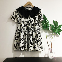 Dress female Other / other Cotton 100% summer Korean version Skirt / vest Dot cotton A-line skirt 36020 7, 8, 3, 6, 18 months, 2, 13, 11, 5, 4, 10, 9, 12 Chinese Mainland Black and white 110 [7], 120 [9], 130 [11], 140 [13], 150 [15], 160 [17]