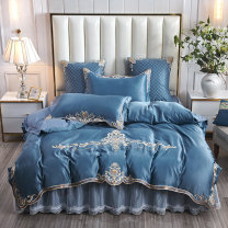 Bedding Set / four piece set / multi piece set Others Embroidery, quilting European pattern 133x72 Other / other cotton 4 pieces 60 1.5m bed [quilt cover 200x230cm], 1.8m bed [quilt cover 200x230cm], 2.0m bed [quilt cover 220x240cm] Bed sheet, bed skirt Qualified products European style cotton twill
