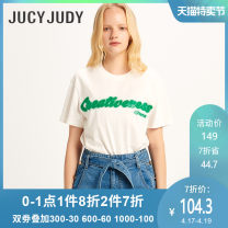 T-shirt White green black 150/XXS 155/XS 160/S Spring 2020 Long sleeves Regular cotton 96% and above Jucy Judy JUTS320F Cotton 100% Same model in shopping mall (sold online and offline)