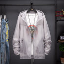 Women's large Summer of 2019 Red, gray, white, blue, lake blue, pink Big L, big XL, big XXL, big XXXL, big XXXXL, big s, M Jacket / jacket singleton  commute easy thin Cardigan Long sleeves Solid color Simplicity Hood routine Three dimensional cutting Ynm-2168 Other / other pocket zipper
