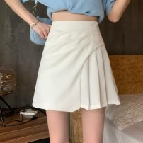skirt Summer 2021 S,M,L White, black Short skirt commute High waist other other Type A 30% and below other polyester fiber