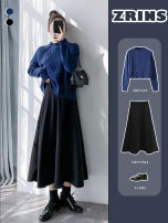 skirt Winter 2020 S,M,L Black wool medium length umbrella skirt, coffee wool medium length umbrella skirt Mid length dress commute High waist Umbrella skirt Solid color Type A 25-29 years old Wool Splicing Korean version
