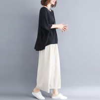 Fashion suit Summer 2021 Average size [100-150 Jin] White, black 25-35 years old 31% (inclusive) - 50% (inclusive) hemp