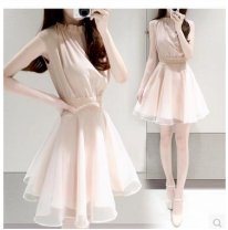 Dress Summer of 2019 S,M,L,XL,2XL Miniskirt Two piece set Short sleeve commute middle-waisted Solid color zipper Others 18-24 years old Other / other lady 71% (inclusive) - 80% (inclusive) Chiffon cotton