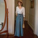 Casual pants Picture color S,M,L,XL Autumn of 2019 trousers Wide leg pants High waist Sweet belt Bohemia