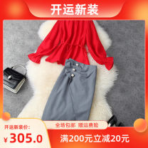 Fashion suit Spring 2021 S,M,L,XL Red with grey T11810