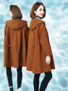 Windbreaker Autumn of 2019 S,M,L,XL,XXL,XXXL Khaki, black, orange Long sleeves routine Medium length commute Single breasted Hood routine Solid color Skirt type Korean version 8279fy 35-39 years old Open line decoration, hooded, pleated, pleated, pocket, stitching 96% and above cotton polyester fiber