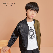 Jacket / leather Me & city kids male blue 110/52 110/56 120/60 130/64 140/68 150/72 160/80 cotton Britain spring and autumn routine nothing Zipper shirt There are models in the real shooting Crew neck Class C Polyester 98% polyurethane elastic fiber (spandex) 2% Spring 2020