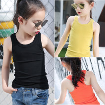 Vest sling I-waistcoat [black], i-waistcoat [white], i-waistcoat [gray], i-waistcoat [pink], i-waistcoat [turmeric], i-waistcoat [orange] I-shaped 120,130,140,150,160 No season Angel in pure clothes female There are models in the real shooting Korean version Solid color Crew neck nothing Cotton 100%