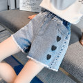 trousers Other / other female 120cm,130cm,140cm,150cm,160cm,170cm summer shorts Korean version There are models in the real shooting Jeans Leather belt middle-waisted Denim Don't open the crotch Cotton 96% polyurethane elastic fiber (spandex) 4% Class B Chinese Mainland Zhejiang Province Huzhou City