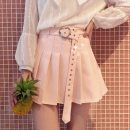 skirt Summer 2020 S,M,L,XL White, pink, black Short skirt Versatile High waist A-line skirt Solid color Type A 18-24 years old 71% (inclusive) - 80% (inclusive) other