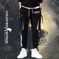 Casual pants Others Youth fashion Black thin 1 style, black thin 2 style, black thin 3 style, black Plush 1 style, black Plush 2 style, black Plush 3 style M,L,XL,2XL,3XL routine trousers Other leisure easy autumn teenagers tide 2020 middle-waisted Little feet Overalls