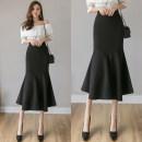 skirt Autumn 2020 S,M,L,XL,2XL,3XL Red, black longuette commute High waist Ruffle Skirt Solid color Type X 25-29 years old 51% (inclusive) - 70% (inclusive) brocade Iefmg / aiyifu Meiji Viscose Ruffles, zippers Korean version