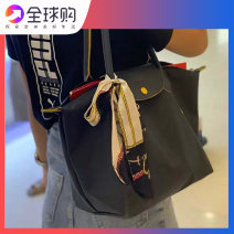 Bag The single shoulder bag Nylon  Tote Bag Other / other brand new European and American fashion in leisure time soft zipper yes Solid color Single root One shoulder hand nothing youth Dumpling shape Embroidery Soft handle polyester fiber inside pocket with a zipper Three dimensional bag