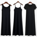 Dress Summer 2020 Mid length dress singleton  Short sleeve commute Crew neck High waist Solid color Socket A-line skirt routine camisole Type A Other / other Korean version 81% (inclusive) - 90% (inclusive) brocade modal