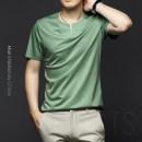 T-shirt Youth fashion Green, gray, black routine M,L,XL,XXL,XXXL,XXXXL,XXXXXL Others Short sleeve Crew neck Super slim daily summer MT002638 youth Business Casual 2021