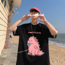 T-shirt Youth fashion White, black, red routine S,M,L,XL,2XL,3XL,4XL Men's and women's shops Short sleeve Crew neck easy Other leisure summer teenagers Off shoulder sleeve Youthful vigor Cotton wool 2021 Cartoon animation printing cotton Cartoon animation washing Fashion brand More than 95%
