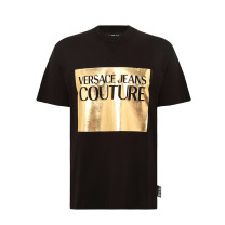 T-shirt Youth fashion Black and white routine S M L XL 2XL versace jeans Short sleeve Crew neck standard daily summer B3GVA7TJ 30319 Cotton 100% youth Summer 2020 International brands Same model in shopping mall (sold online and offline)
