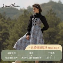 Dress Autumn 2020 Picture color (spot), take delivery within 7 days S,M,L longuette singleton  Sleeveless commute High waist lattice zipper A-line skirt camisole 18-24 years old Type A since then Retro CQ200862 30% and below wool
