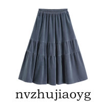 skirt Winter of 2019 S,M,L Mid length dress street Cake skirt Solid color Type A 18-24 years old 71% (inclusive) - 80% (inclusive) other Europe and America