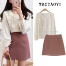 Fashion suit Spring of 2019 S,M,L,XL Apricot, white, red bean paste 18-25 years old Other / other 96% and above cotton