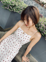 Dress Summer 2020 white XS,S,M,L Mid length dress singleton  High waist 25-29 years old More than 95%