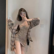 Fashion suit Autumn 2020 Average size Shirt, bra skirt 18-25 years old 51% (inclusive) - 70% (inclusive) cotton