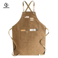 apron Sleeveless apron antifouling Simplicity canvas Cooking / baking / barbecue Average size Goopeeg / Gupi public yes Retro style