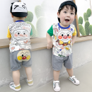 suit Other / other 73cm,80cm,90cm,100cm,110cm male summer leisure time Short sleeve + pants 2 pieces Thin money No model Socket nothing Cartoon animation cotton children Expression of love Class A Cotton 95% other 5% 6 months, 12 months, 9 months, 18 months, 2 years, 3 years, 4 years Chinese Mainland