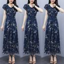 Dress Summer 2021 blue M,L,XL,2XL,3XL