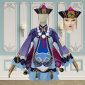 Cosplay women's wear suit Customized Over 14 years old Yuanshen Qiqi (including hat), hat comic S. M, l, XL, customized Purple Dance Chinese Mainland Lovely wind Yuanshen cos